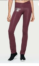 Victoria's Secret LARGE.R Ruby Wine w/VS SPORT Graph The Crossover Slim Boot Pan