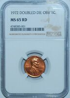 1972 NGC MS65RD Red FS-101 DDO Double Doubled Die Obverse Lincoln Cent