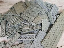 LEGO - 250g of random MIXED LIGHT GREY GRAY Plates flat bricks used and washed