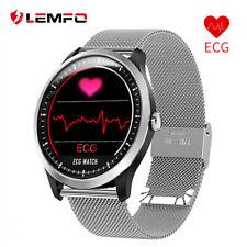Lemfo de frecuencia cardíaca reloj inteligente de presión arterial ECG PPG seguimiento para ejercicio Impermeable