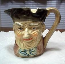 Odd Old Figural Face Pitcher wth Spoon Rest? - Wrinkled Old Man - Bottom Marked