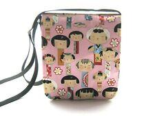 Tela di cotone rosa bambolina Midi mini messenger bag Cross Corpo Borsa A Tracolla