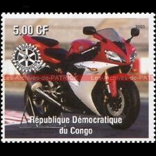 YAMAHA YZF 750 R7 CONGO 2003 Timbre Poste Moto Collection Stamp Stempel Sello