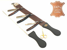 BARBER HIGH QUALIT SHAVE READY STRAIGHT RAZORS SET WITH STROP NEW