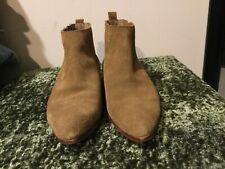 Gap Suede Tan Suede Ankle Flat Pull On Booties Boots 8