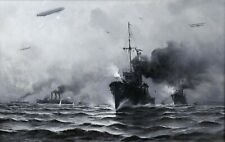 Henry MALFROY (1895-1944) Bataille de Cuxhaven marine 1914 Martigues zeppelin