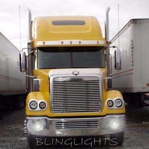 White LED Halo Fog Lamps Angel Eye Driving Light Kit For Freightliner Coronado