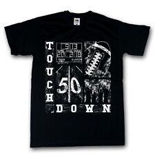 Football Shirt schwarz Funshirt Touchdown 100% Cotton S-XXXXXL