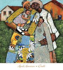 "African American Art ""Dwell"" ethnic Black Family  art print by April Harrison"