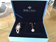 Women watch Bella&Rose +pendant+earrings custom jewelry