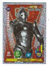 Doctor Who Alien Armies Chase Card Glitter Card G20 Cyberman Panini Good