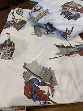 Pottery Barn Kids SPIDERMAN Twin Sheet Set 2008 Flat and fitted