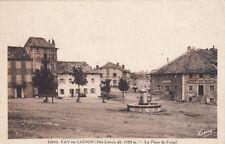FAY-SUR-LIGNON la place du foirail timbrée 1947
