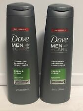 2 DOVE MEN + CARE 2 in 1 FORTIFYING SHAMPOO + CONDITIONER 12 OZ FRESH & CLEAN