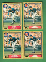 1987 TOPPS TRADED SETS LOT OF 4 COMPLETE 132 CARDS GREG MADDUX ROOKIE CARD #70T