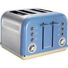 Morphy Richards Accents 4 Slice Wide Slot Toaster In Blue Variable Width 242007