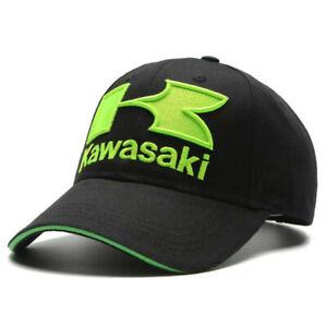 KAWASAKI Mens Racing Baseball Cap Basecap Mütze Stretch Kappe Hat GIFT