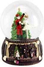 Christmas Nutcracker & Ballerina Snow Globe Musical Plays Nutcracker Suite