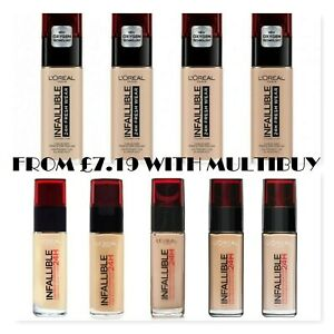 L'OREAL 24H Infallible/Fresh Wear Foundation 30ml   - CHOOSE SHADE - NEW Sealed
