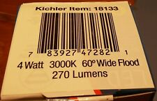 Kichler 18133 4Watt Led 3000K 60Deg Flood - 12volt - 270 lumens
