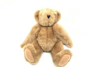 """Authentic Vermont Teddy Bear Company Handmade Jointed Brown Bear 15"""""""