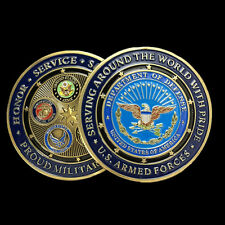 1Pcs Hot US Navy Army Air Force Marine Corps Commemorative Coins Gifts