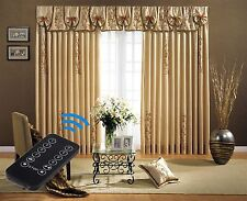 """3-Meter (118"""") Remote Control Motorized Curtain Tracks with wall switch"""