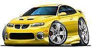 2004 2005 2006 Pontiac GTO Yellow Jacket Metallic t-shirt holden in sizes S-3XL