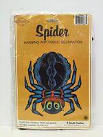 Vintage Beistle Spider Halloween Decoration 01883 14in Honeycomb Tissue 1976 NOS