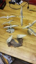 2 Flying 1 standing vintage Seagulls Small Nautical   Decoration