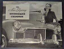 1946 Studebaker Skyway Champion Sales Brochure Folder Excellent Original 46