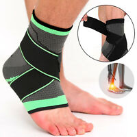 Ankle Brace Support Compression Sleeve Plantar Fasciitis Pain Relief Foot Wrap L