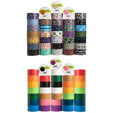 36pk Simply Genius Duct Tape Colored Patterned Designs Arts Crafts Supplies Bulk