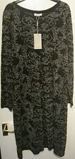 Monsoon lacey dress black sliver sparkle size 12 bnwt floral