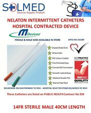 5 X 14FR MALE NELATON CATHETER STERILE 40CM HOSPITAL CONTRACTED ITEM