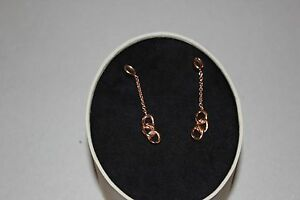 GENUINE LINKS OF LONDON 18 KT YELLOW GOLD VERMEIL AND WHITE TOPAZ  DEW EARRINGS