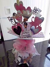 Hand made fairy or any  Princess  pop up card & stand