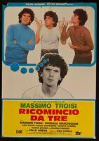 Manifesto Groundhog Day For Tre Massimo Troisi Pino Daniele 1 Edition 1981 S18