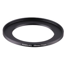 58-77mm Step-Up Metal Adapter Ring / 58mm Lens to 77mm UV CPL Filter Accessory