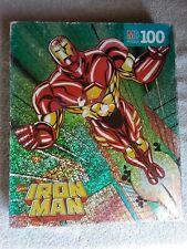 Sealed HTF Milton Bradley Kids Marvel Comic New Vtg 1996 100 pc Iron Man Puzzle