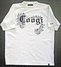 Vintage Men's COOGI Black Graphic White T-Shirt Size XXL
