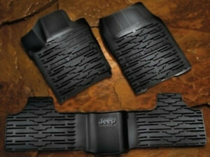 2013-2019 Jeep Grand Cherokee Genuine Mopar All Weather Rubber Mats Black - NEW