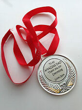 Personalised gift/medal for Dad,Daddy,Step Dad,Gran dad - Birthday , Christmas