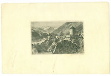 ORIGINALE CON FIRMA acquaforte Merano Castello Tirolo artisti G Bauer Josse arte?