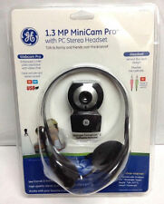GE 1.3 MP MiniCam Pro WebCam & PC Stereo Headset With Mic 98003 NEW SEALED