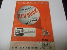 1949 LITTLE RED BOOK OF BASEBALL MLB GUIDE RARE ALL MAJOR LEAGUE RECORDS