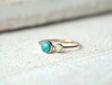 Turquoise Opal Stone Solid 925 Sterling Silver Ring Handmade Ring Jewelry R76
