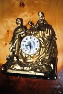 Antique table metal clock (Stone flower) over 3 kilograms