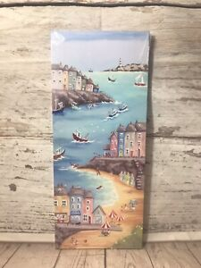Holiday Picture By The Seaside Lighthouse Canvas Picture Fishing Boats Harbour