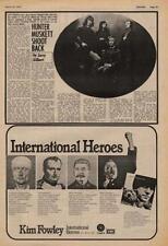 Hunter Muskett UK Interview Kim Fowley LP advert 1973 EWBN